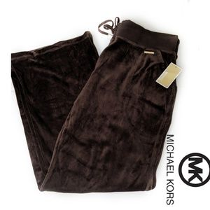 Chocolate Brown Micheal Kors Velour Pant